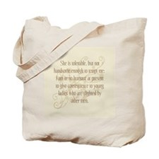 Not Handsome Enough Tote Bag