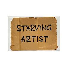 Starving Artist Rectangle Magnet