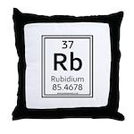 Rubidium Throw Pillow