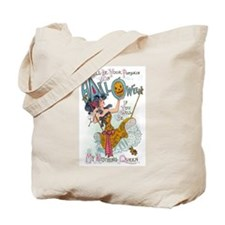 Vintage Halloween Witch Tote Bag