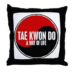 TAE KWON DO Way Of Life Yin Yang Throw Pillow