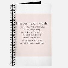 I Never Read Novels Journal