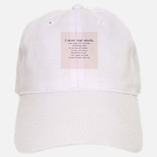 I Never Read Novels Baseball Baseball Cap