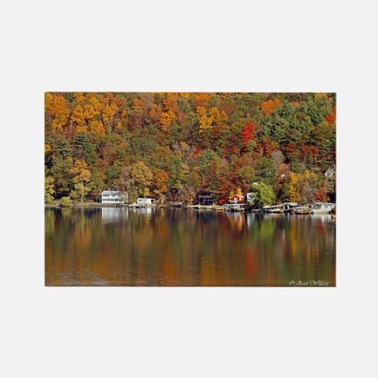 Lakeside Reflections Rectangle Magnet