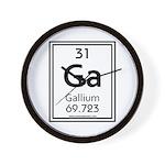 Gallium Wall Clock