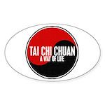 TAI CHI CHUAN Way Of Life Yin Yang Oval Sticker