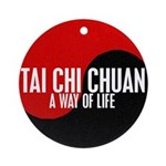 TAI CHI CHUAN Way Of Life Yin Yang Ornament (Round