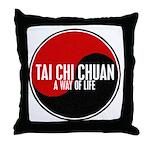 TAI CHI CHUAN Way Of Life Yin Yang Throw Pillow
