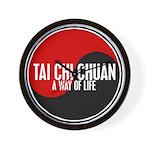 TAI CHI CHUAN Way Of Life Yin Yang Wall Clock