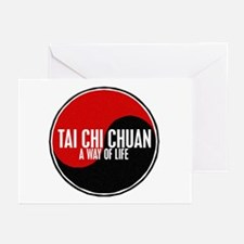 TAI CHI CHUAN Way Of Life Yin Yang Greeting Cards
