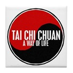 TAI CHI CHUAN Way Of Life Yin Yang Tile Coaster