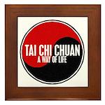TAI CHI CHUAN Way Of Life Yin Yang Framed Tile