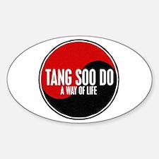 TANG SOO DO Way Of Life Yin Yang Oval Decal