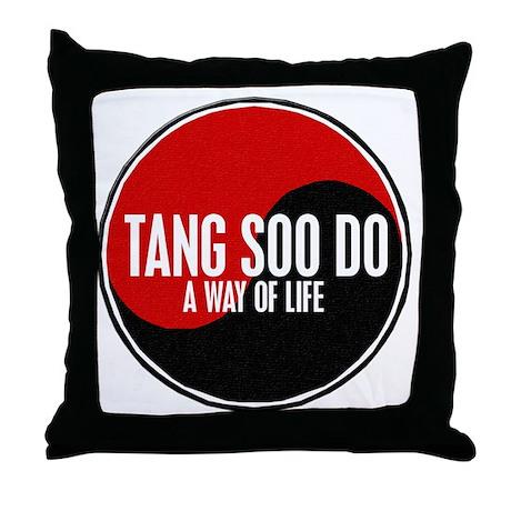TANG SOO DO Way Of Life Yin Yang Throw Pillow