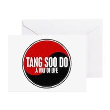 TANG SOO DO Way Of Life Yin Yang Greeting Cards (P
