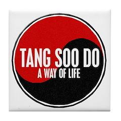 TANG SOO DO Way Of Life Yin Yang Tile Coaster