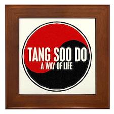 TANG SOO DO Way Of Life Yin Yang Framed Tile
