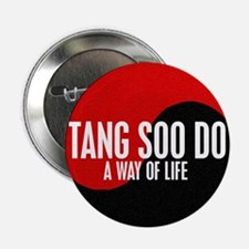 """TANG SOO DO Way Of Life Yin Yang 2.25"""" Button (10"""