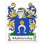 Malinovsky Family Crest Small Poster