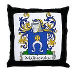 Malinovsky Family Crest Throw Pillow