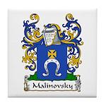 Malinovsky Family Crest Tile Coaster