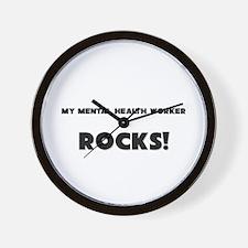 MY Mental Health Worker ROCKS! Wall Clock