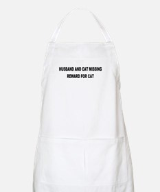 Husband & Cat Missing... BBQ Apron