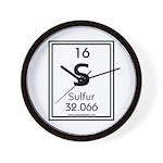 Sulfur Wall Clock