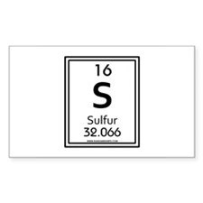 Sulfur Rectangle Decal