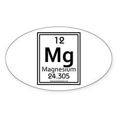 Magnesium Oval Decal
