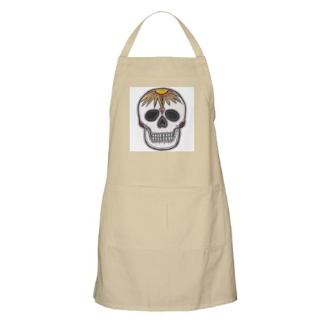 Day of the Dead Skull BBQ Apron