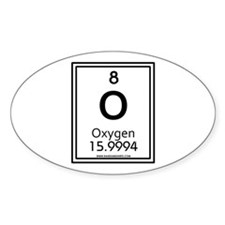 oxygen Oval Decal