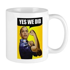 Yes We Did Small Mug