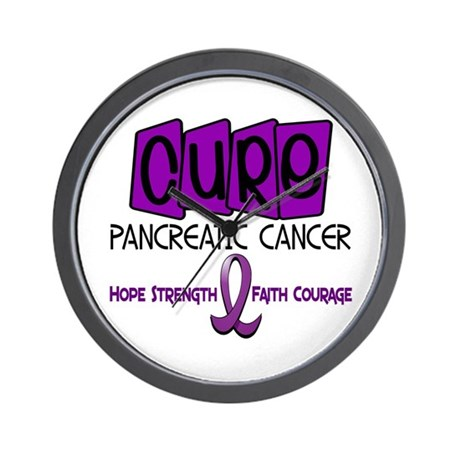CURE Pancreatic Cancer 1 Wall Clock