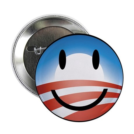 "Happy Obama 2.25"" Button (100 pack)"