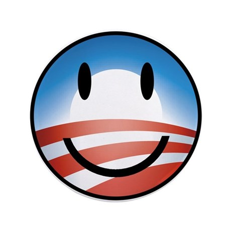 """Happy Obama 3.5"""" Button (100 pack)"""