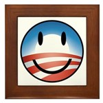 Happy Obama Framed Tile