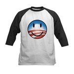 Happy Obama Kids Baseball Jersey