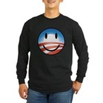 Happy Obama Long Sleeve Dark T-Shirt