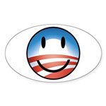 Happy Obama Oval Sticker (10 pk)