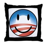 Happy Obama Throw Pillow