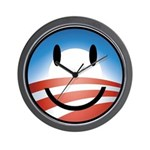 Happy Obama Wall Clock