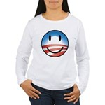 Happy Obama Women's Long Sleeve T-Shirt