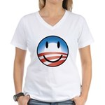 Happy Obama Women's V-Neck T-Shirt