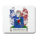 Markovich Family Crest Mousepad