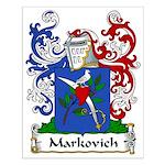 Markovich Family Crest Small Poster