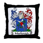 Markovich Family Crest Throw Pillow