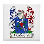 Markovich Family Crest Tile Coaster