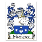 Martynov Family Crest Small Poster