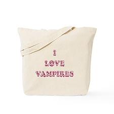 I Love Vampires - Pink Tote Bag